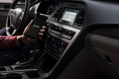 Hyundai launched Android Auto on production vehicles, starting with the 2015 Sonata.
