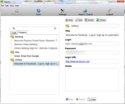 Keeper Desktop makes it easy to manage your logins and passwords, allowing you to organize them with folders.