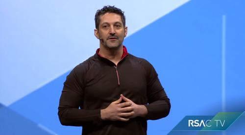 Amit Yoran, president of RSA, speaks at the RSA Conference in San Francisco on April 21, 2015.