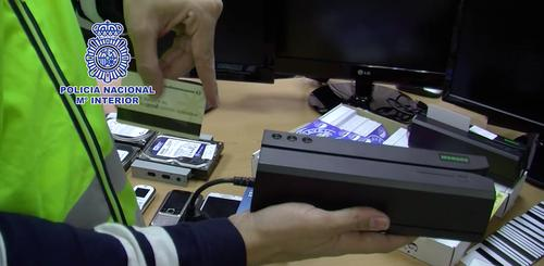 Among the equipment seized by Spanish police from a gang accused of ATM fraud included MSR605 magnetic card encoders.