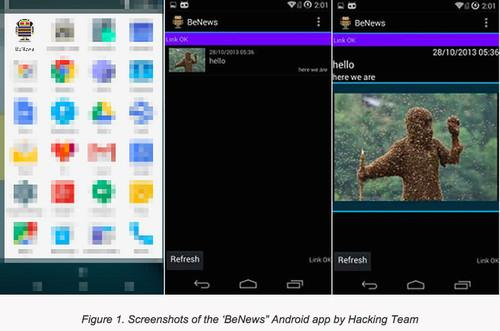 Trend Micro said Hacking Team offered a bogus news app to customers that delivered its flagship spying tool to Android devices.