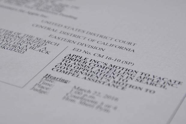 The first page of Apple's motion to vacate the judge's order Credit: James Niccolai