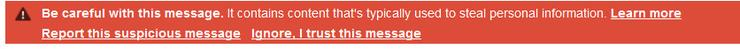 Google Drive bug warning message