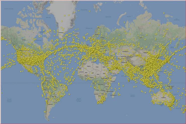 Earth's teeming skies