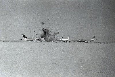 The world is safer from terrorists today than the 1970s when, to name just one example, members of the Popular Front for the Liberation of Palestine hijacked four jet aircraft bound for New York City and took them to the remote Dawson's Field in Jordan. Photo: [© Bettmann/CORBIS]