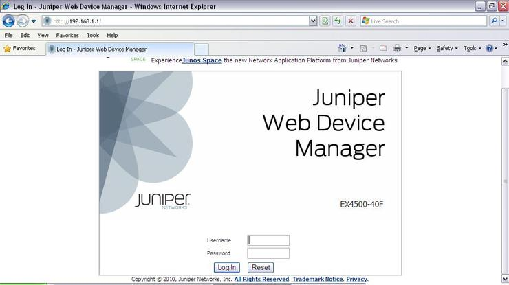 Juniper screenshot
