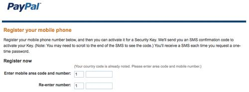 PayPal will ask you to choose whether you want to order a security key, set up your account to use security codes sent to your phone, or to set up a security key device.