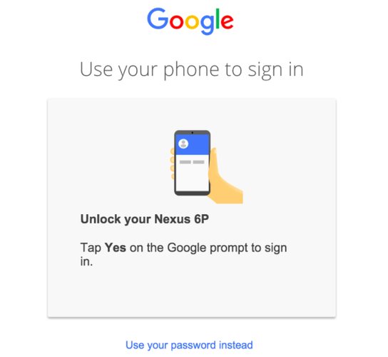 Image result for tap yes on the google prompt
