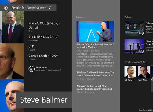 Looking for something? By default, Microsoft expands your searches in Windows 8.1 to include Bing results and results from Windows 8 apps.
