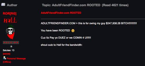 Adult friend finder message