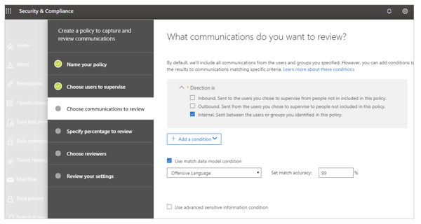 Monitor Teams content for offensive language in the new supervisory dashboard.